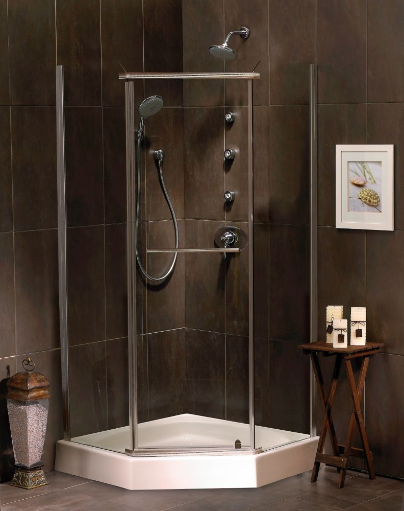 Sorrento 38 Inch Acrylic Neo-Angle Shower Door & Base | Pinterest ...