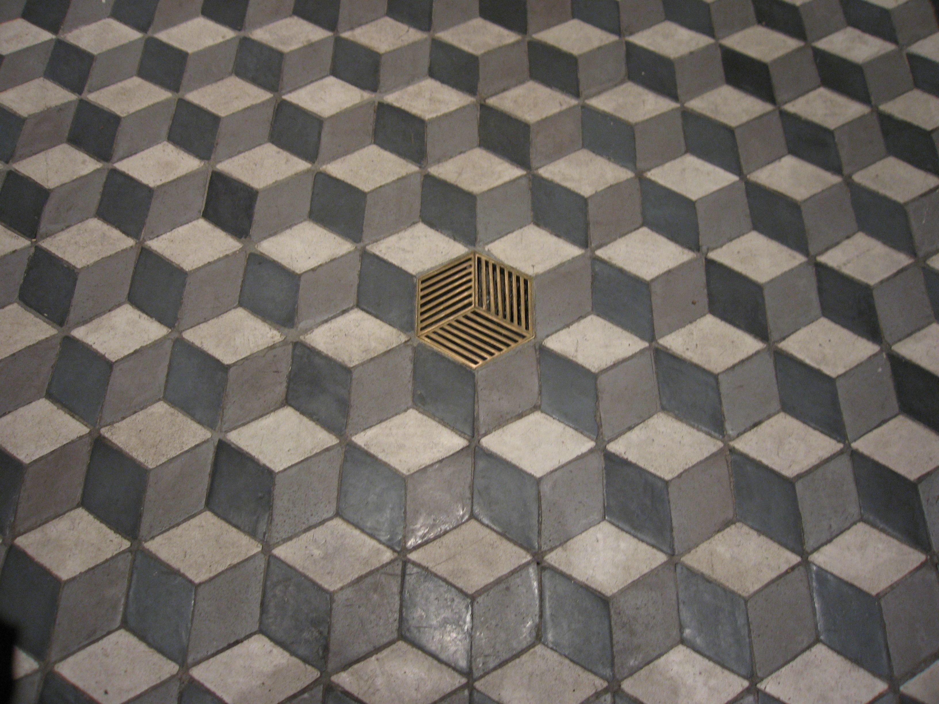 Piastrelle prospettiche con griglia house louis vuitton tiles