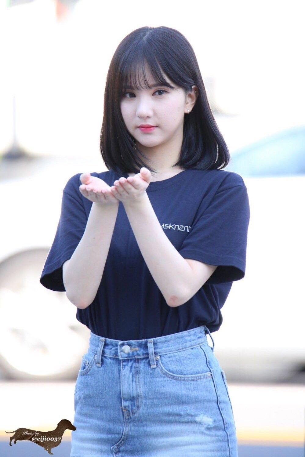 Gfriend Eunha Di 2019  Rambut Ala Korea, Rambut Warna -5408