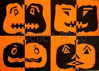 Tekenen En Zo Halloween.Tekenen En Zo Art Cut And Paste Knutselen Halloween
