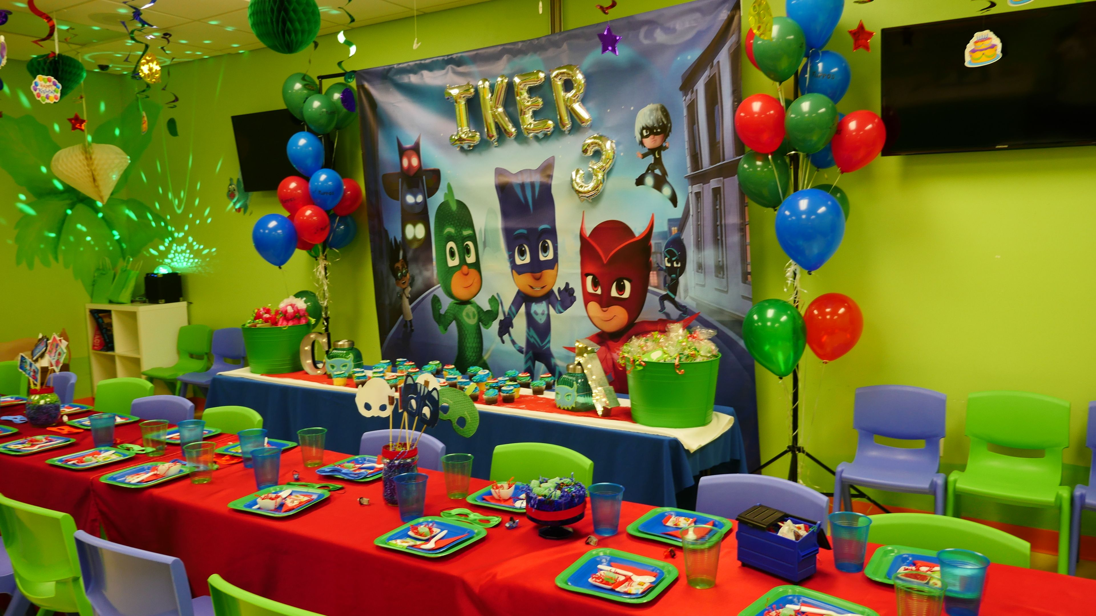 Pin by Mars Codina on PJ Mask Birthday Party (Ikers 3rd 2016)