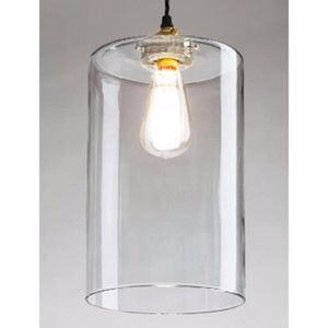 Cylinder Glass Pendant Large Clear Glass Pendant Shades Blown