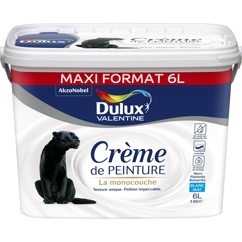 Peinture Blanc Mur Et Plafond Crème De Peinture Dulux