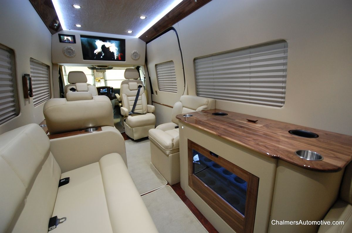 Cheesecake Luxury Custom Mercedes Sprinter Floorplan With Bar