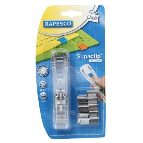 Rapesco Supaclip 40 Dispenser with 25 Clips Stainless Steel: To use ...