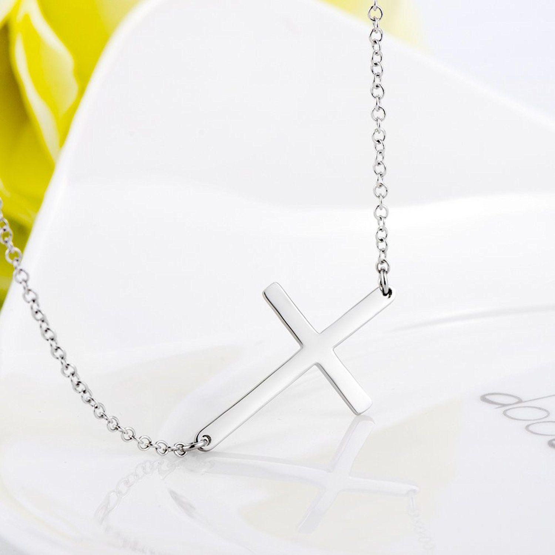 925 sterling silver polished sideways cross pendant necklace 925 sterling silver polished sideways cross pendant necklace visit the image link more details aloadofball Choice Image