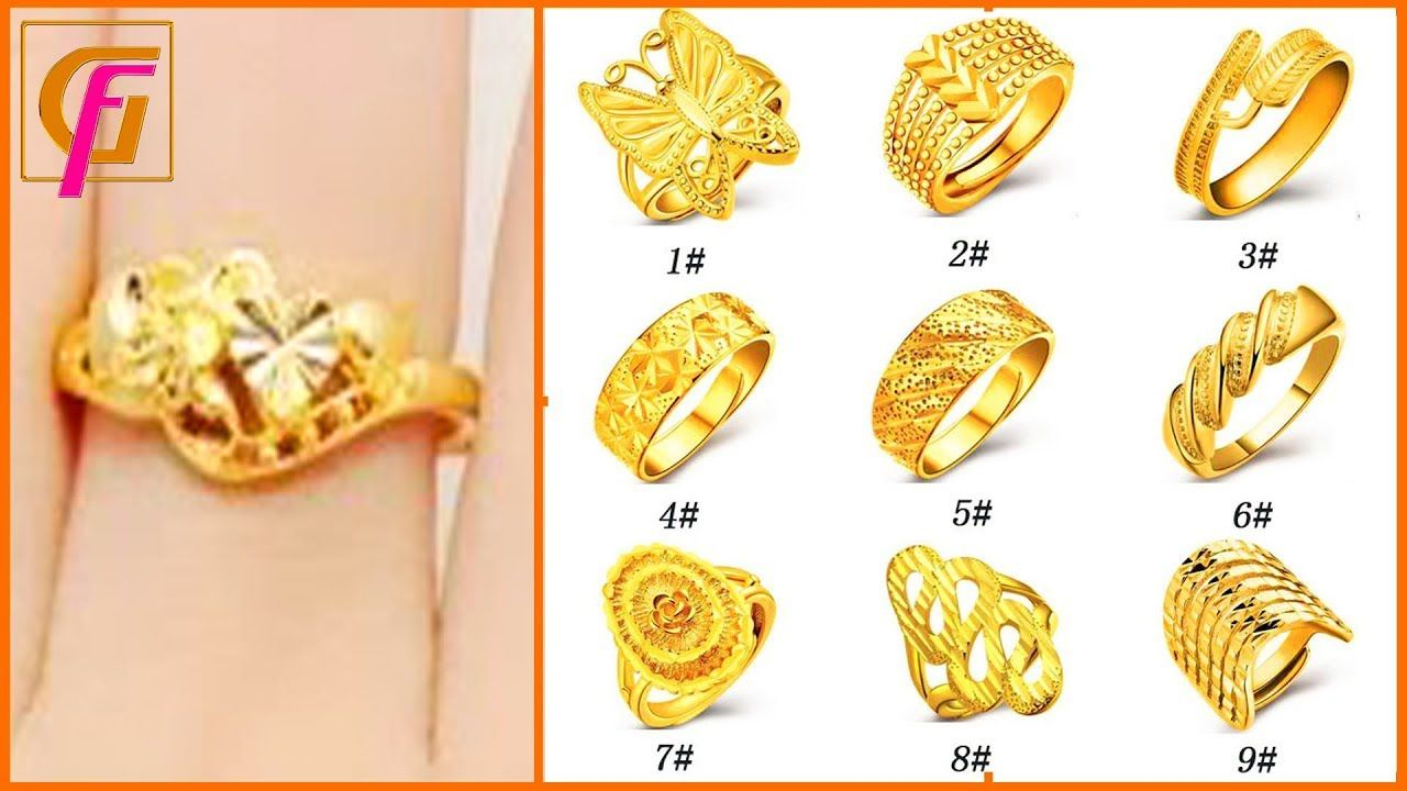Beautiful Gold Ring Designs For Girls With Weight Latest Gold Rings D Gold Ring Designs Beautiful Gold Rings Latest Gold Ring Designs