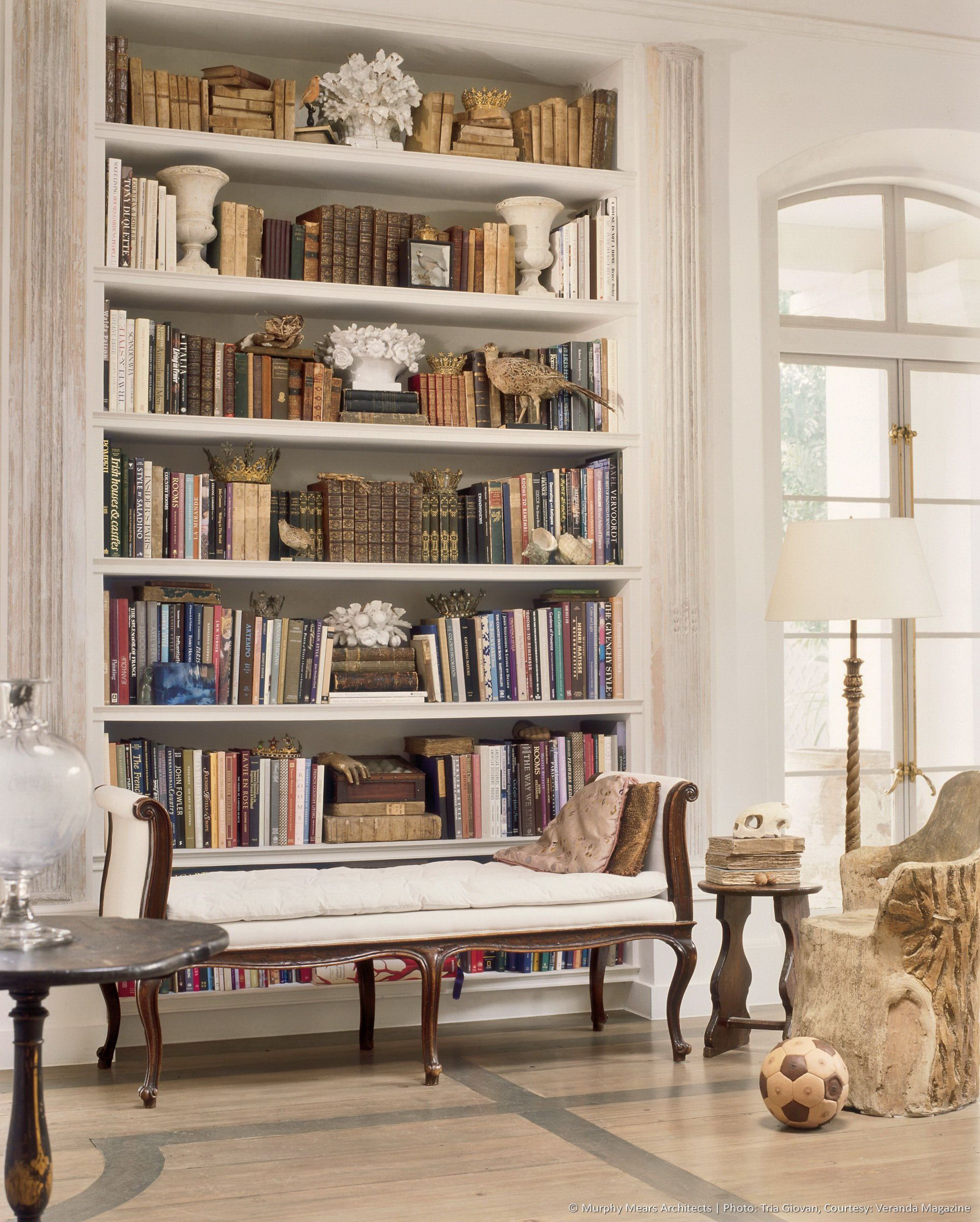Exceptional Beautifully Styled Bookcase   Neoclassical Home In Houston   Via  MurphyMears.com