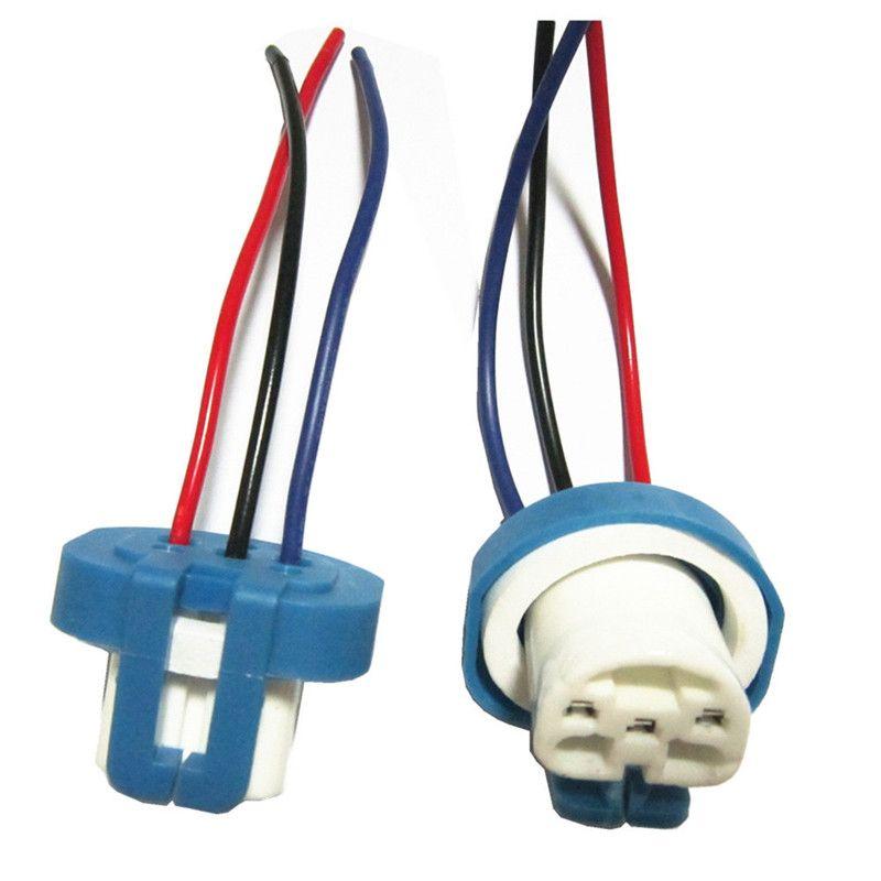100pcs/lot 9007 Ceramic Socket 9004 HB1 HB5 Xenon Lamp