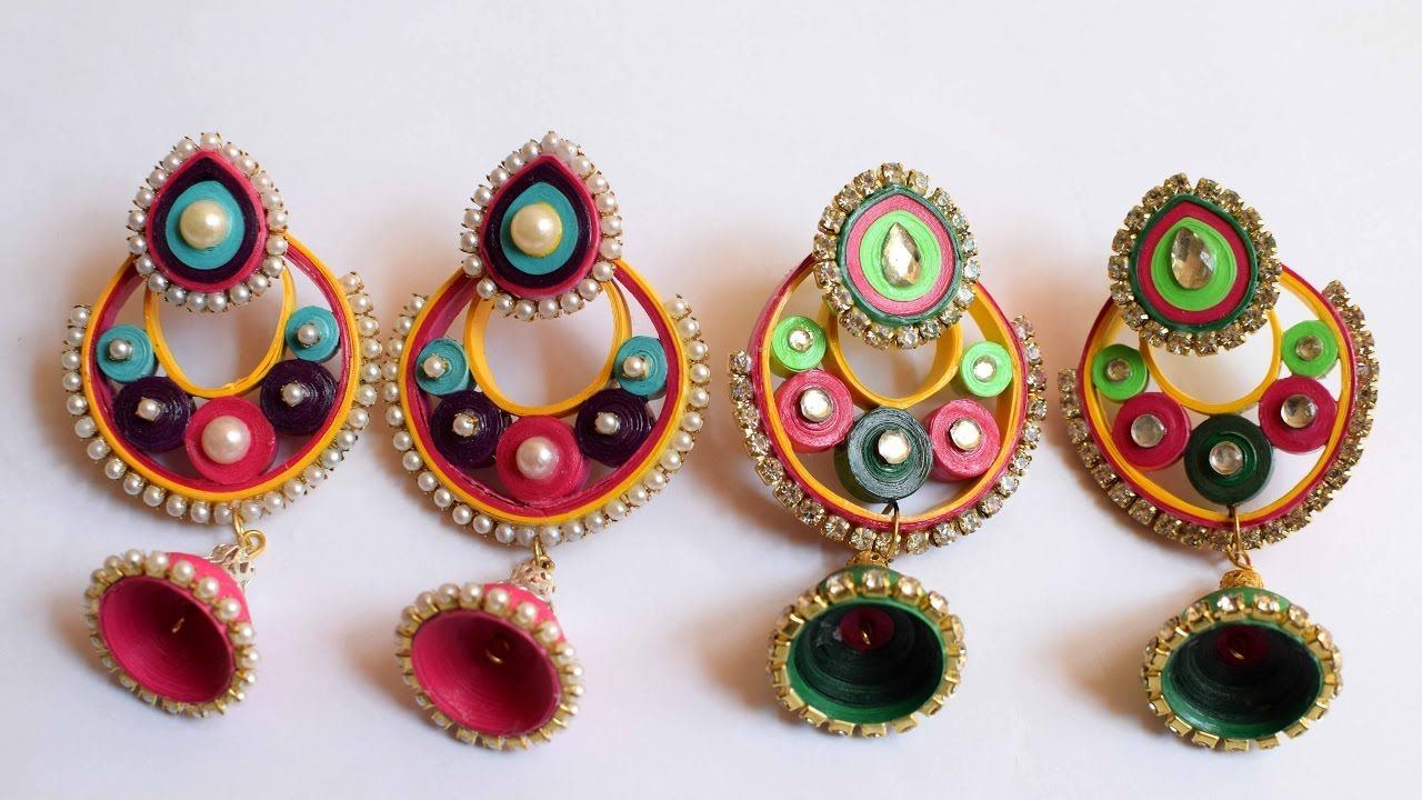 Quilled earrings quilled jhumka quilled paper jewelry pinterest