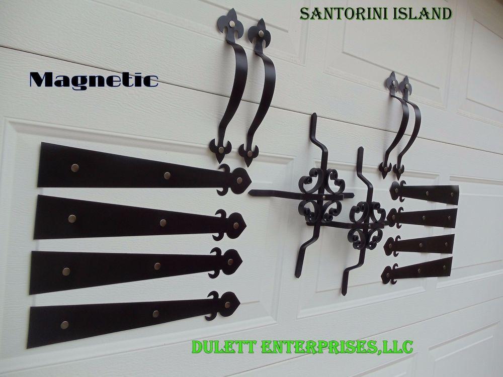 Magnetic Garage Door Decorative Hardware Kit5 Hinges Black Grille Carriage House Exterior House Colors Garage Door Decor Garage Door Decorative Hardware
