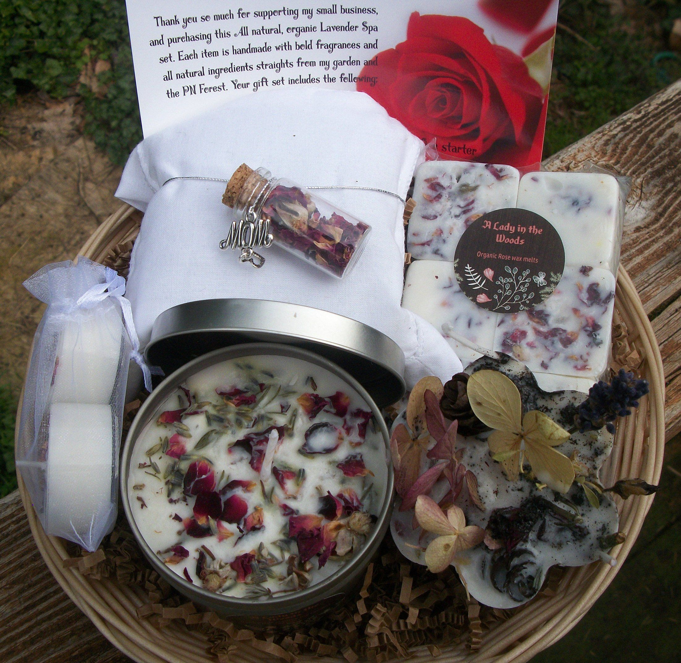 Rose bridesmaid gift set - bride gift - Maid of honor gift