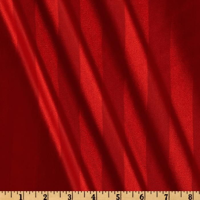 Dazzle Knit Stripes Red from @fabricdotcom  This lightweight polyester knit fabric  features vertical  stripes.  It has a very fine ribbed texture and a subtle sheen. Fabric has a beautiful hand and drape that is perfect for dancewear and activewear such as pants, tanks, tops and pullovers. Fabric has 10% mechanical stretch across the grain for added comfort and ease.