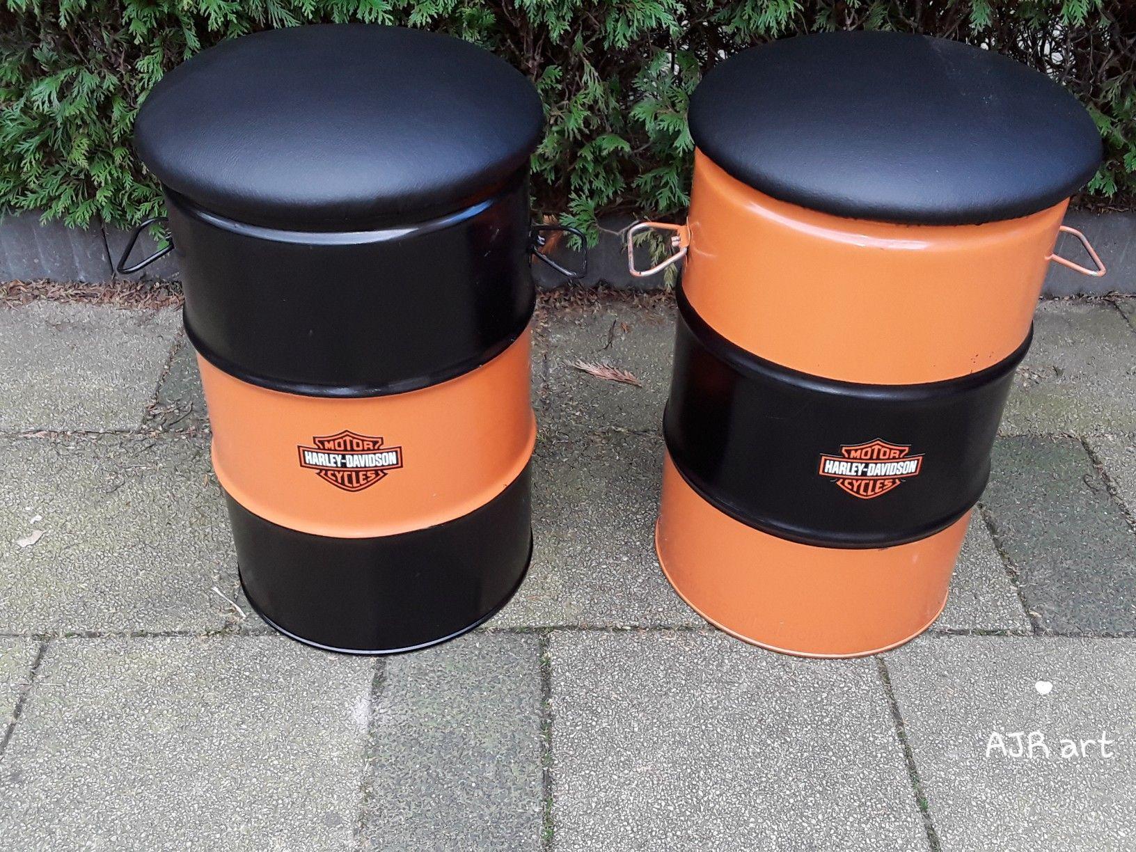 Harley Davidson Statafel.Harley Davidson Kruk Poef Oildrum Projects In 2019 Kruk