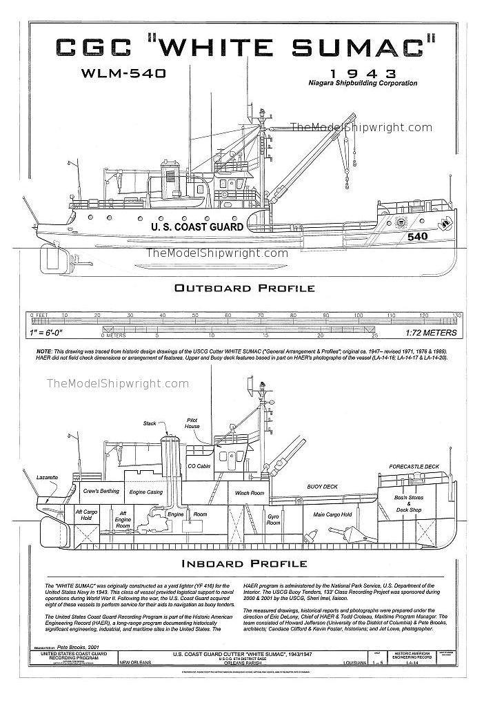 Free Ship Plan Coast Guard Cutter White Sumac