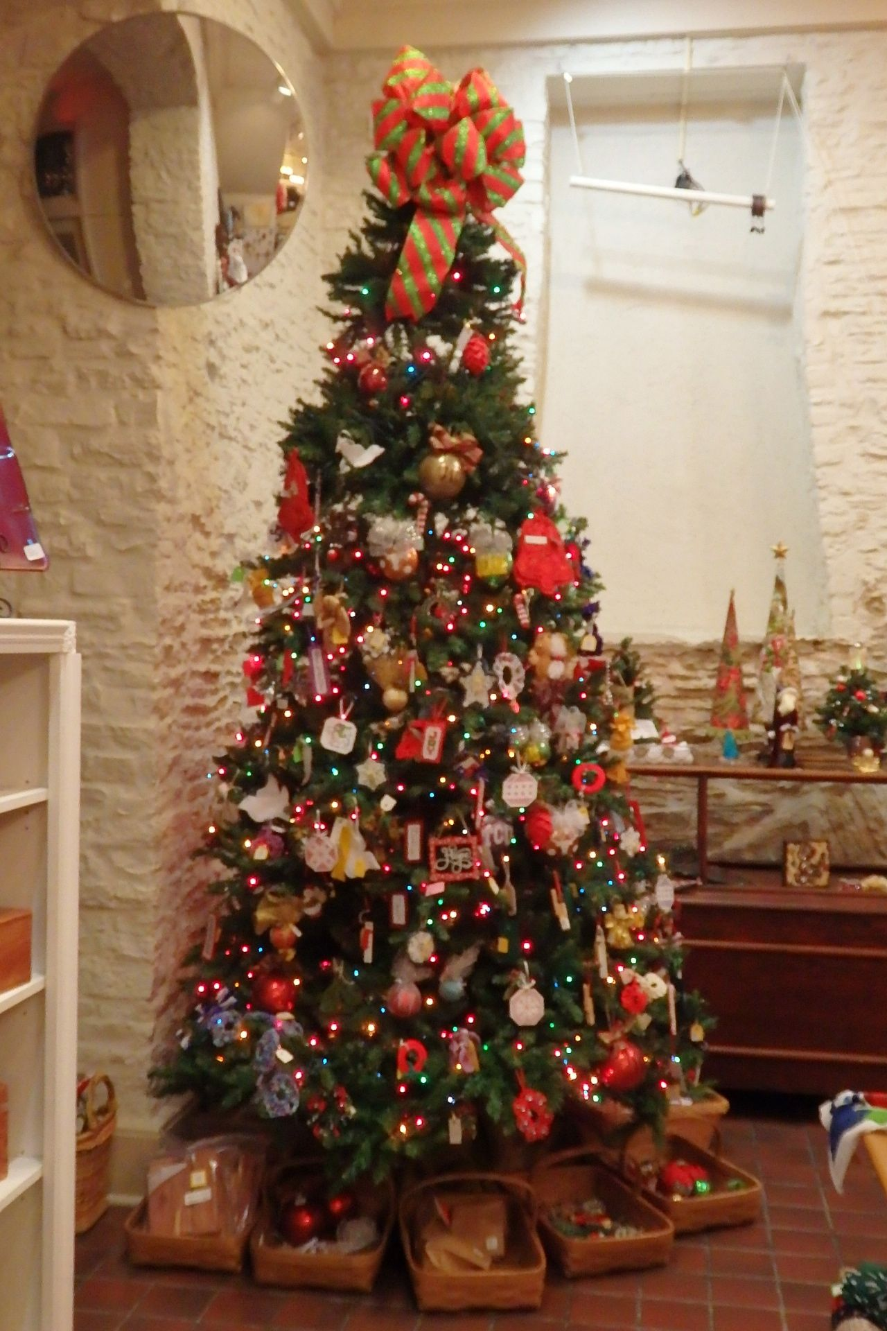 Beautiful Christmas tree at the Old Bakery. Christmas