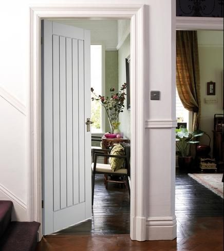 Howdens Joinery primed stile and rail doors are constructed using engineered timber stile and rail with MDF facings and dowelled joints. & White internal door option sympathetic style to hardwood | Under ... Pezcame.Com