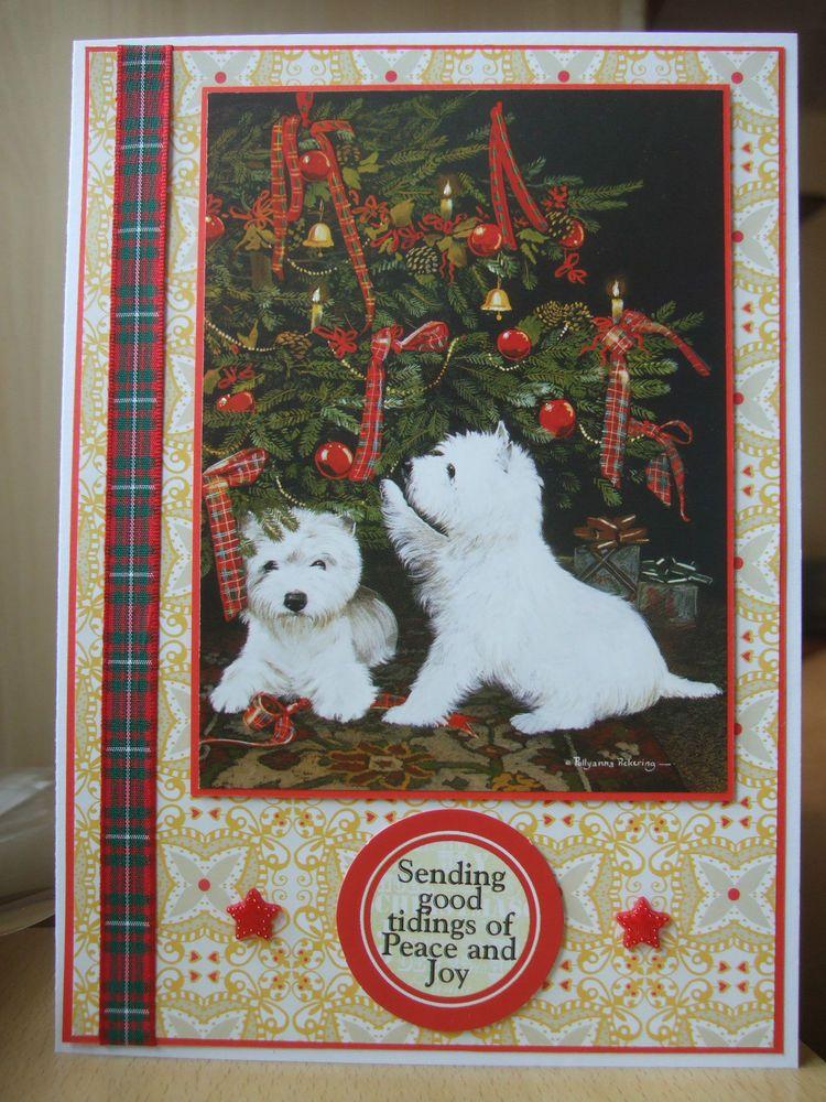 Handmade Westie Dogs Christmas Card P Pickering West Highland ...