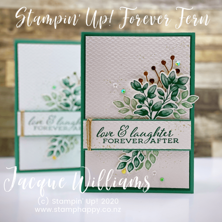 Just Jade With Forever Fern For A Non Traditional Wedding Card With Video Tutorial Stamp Happy Jacque Williams Stampin Up Demonstrator Stampin Up Wedding Cards Wedding Cards Nontraditional Wedding