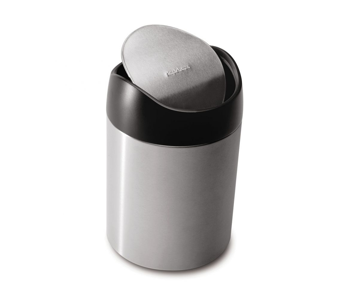 1 5 Litre Mini Can Stainless Steel Bathroom Trash Can