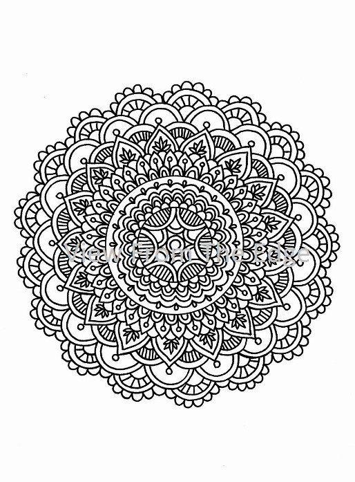 Mandala Coloring Page Mehndi Henna Printable Pdf By Katie N Dunphy Mandala Coloring Pages Mandala Coloring Mandala