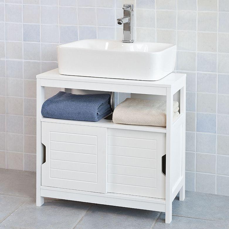Sobuy Waschbeckenunterschrank Waschtisch Badschrank Mit Fusspols