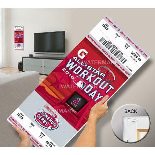 2010 MLB Home Run Derby Mega Ticket - Anaheim Angels