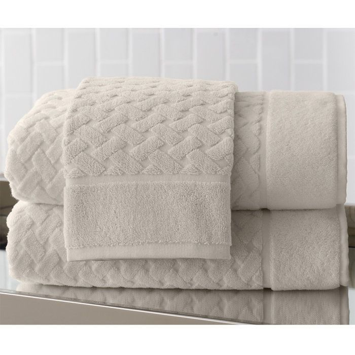 Uptown Guest Towel Ivory, from Brookstone #PeacockAlley
