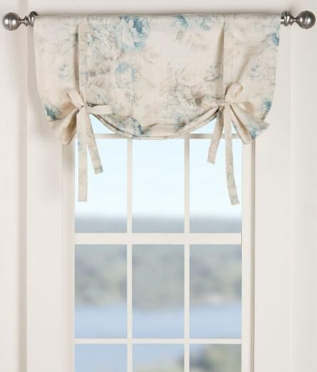 hailey tie up valance girl room curtains country curtains tie up valance. Black Bedroom Furniture Sets. Home Design Ideas