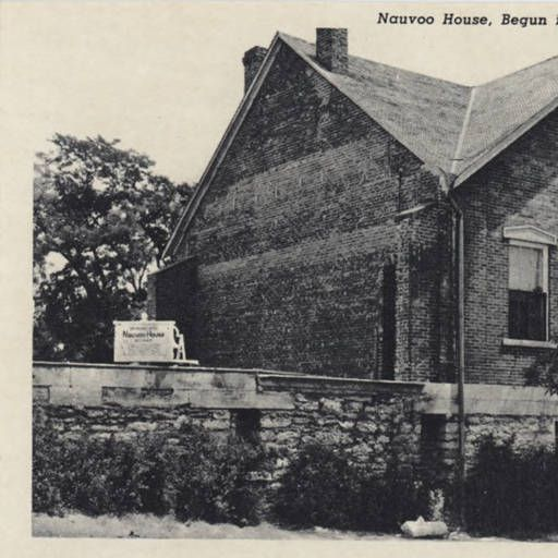 Nauvoo House Begun In 1841 As A Hotel Nauvoo Illinois Postcards Illinois Church History Sites Lds Church History Church History