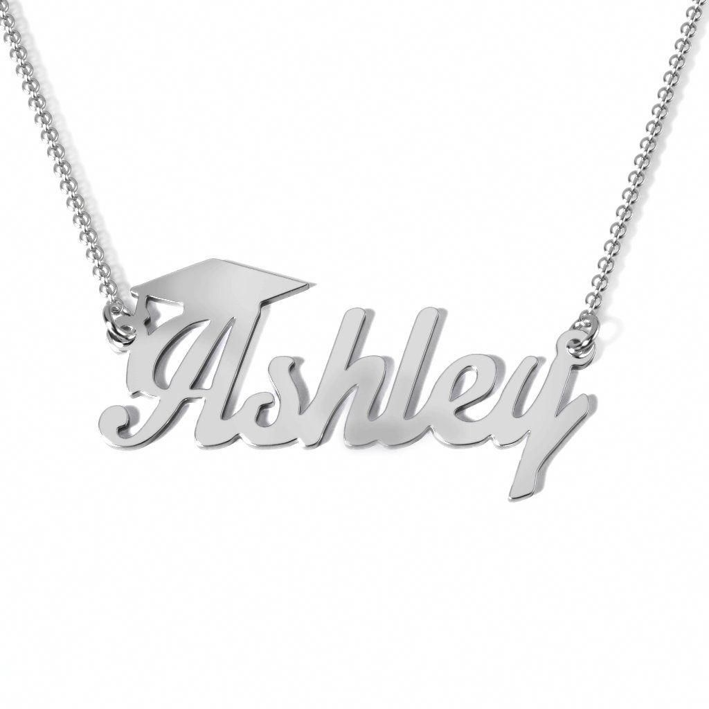 Photo of Graduation name necklace #goldnamesecklace