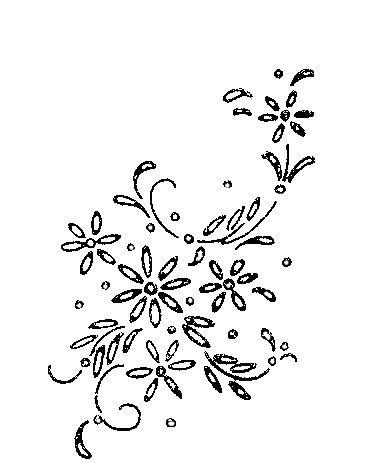 Small Floral Motif Handkerchief