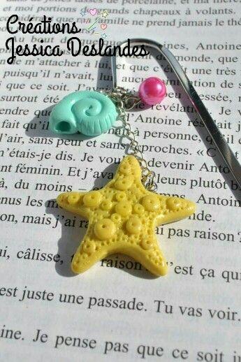 Marque page étoile de mer