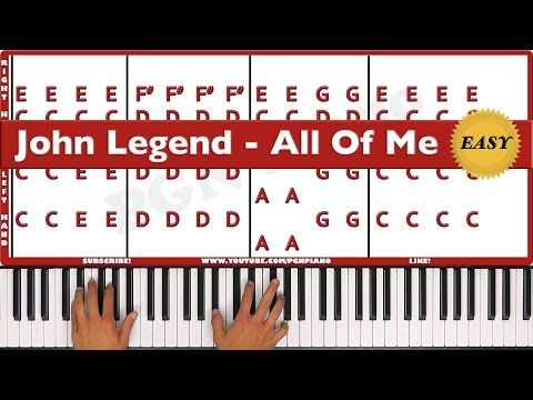Easy How To Play All Of Me John Legend Piano Tutorial Lesson