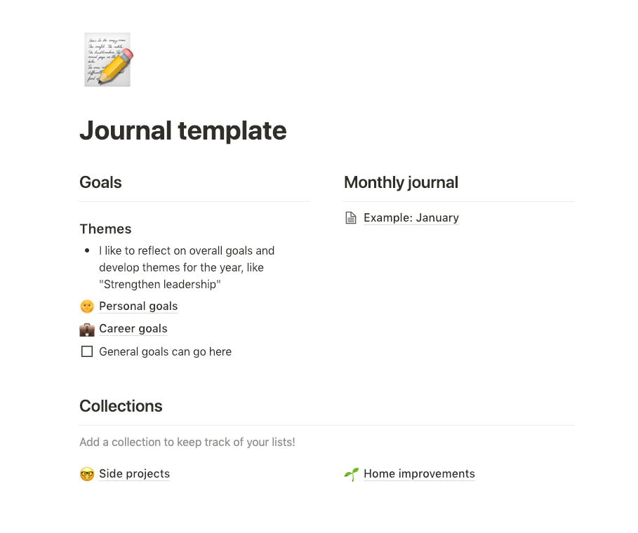 10 Public Notion Templates You Can Magically Copy Notions Templates Journal Template