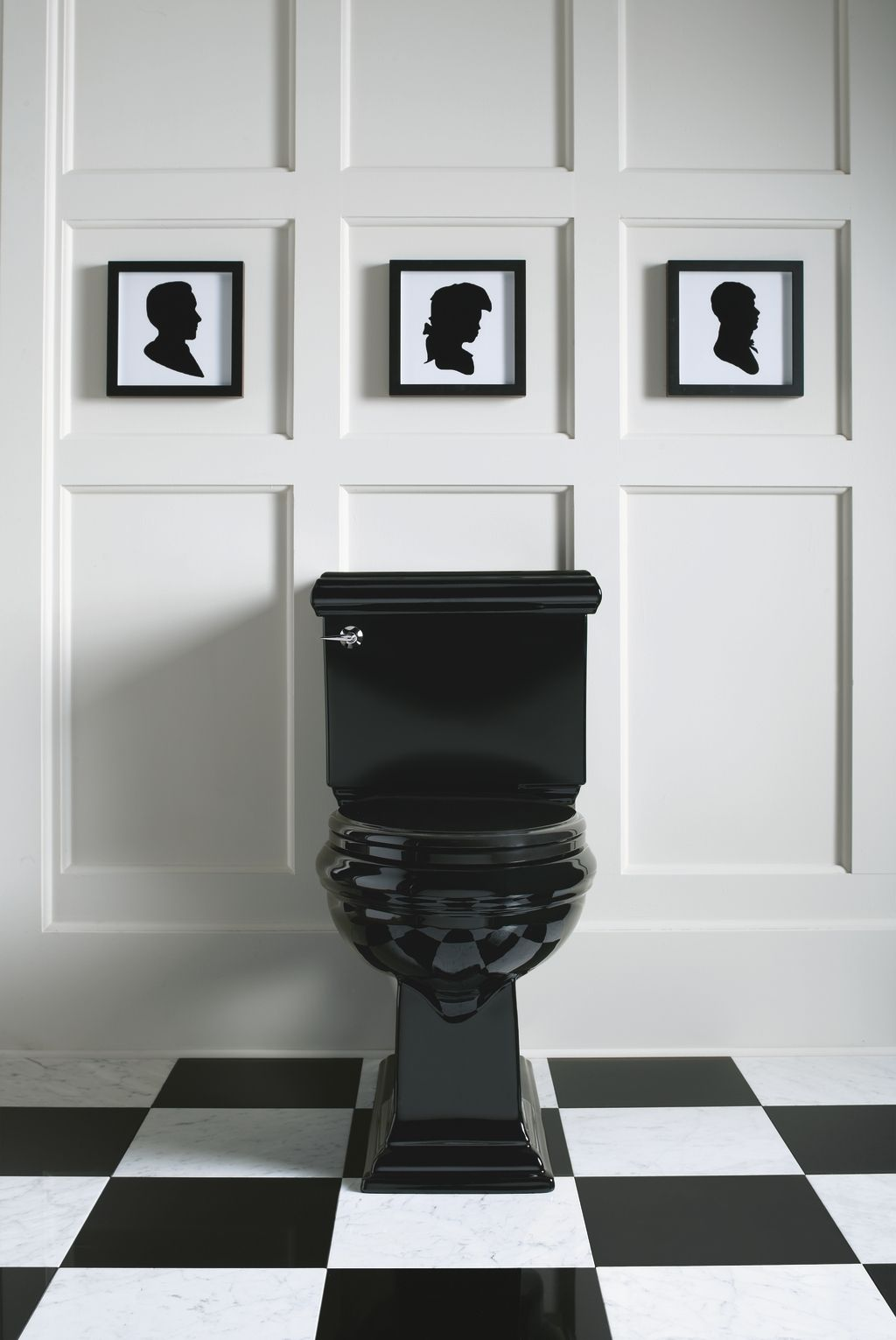 bathroom black tiles these small square framed silhouettes perfectly echo the 10228