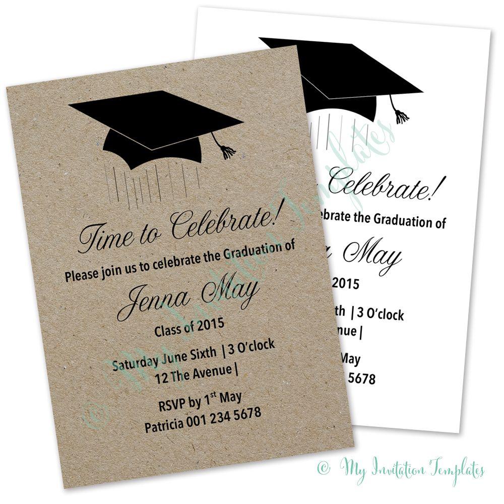 Graduation Ceremony Invitation Templates Di 2020 Undangan Ide