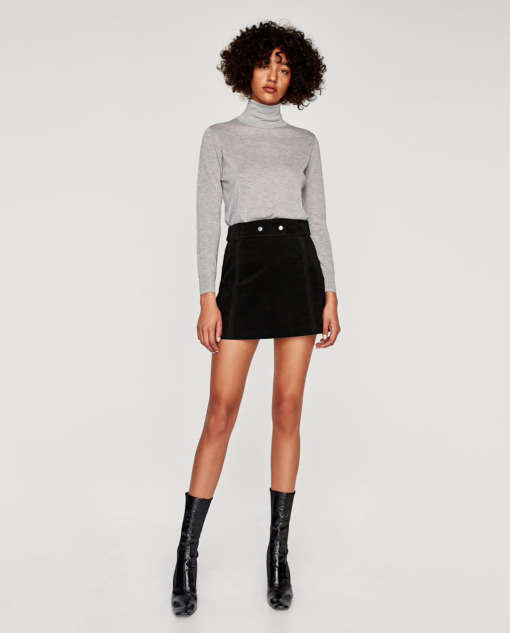 SUEDE MINI SKIRT Available in more colours | Suede mini