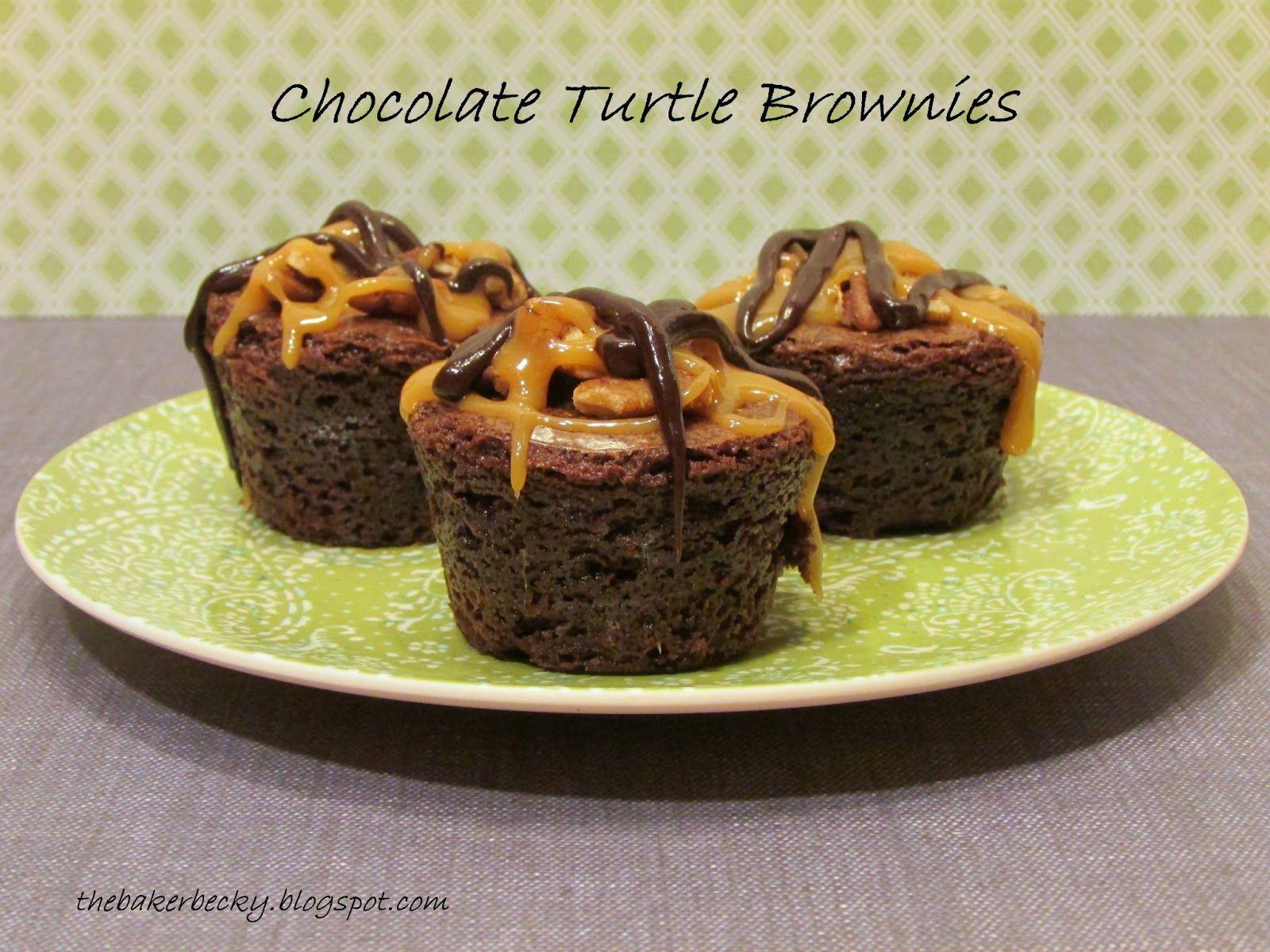 Baker Becky: Chocolate Turtle Brownies #turtlebrownies
