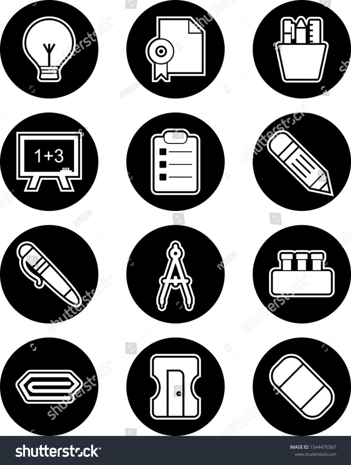 Icon Set Of Education For Personal And Commercial Use...\n