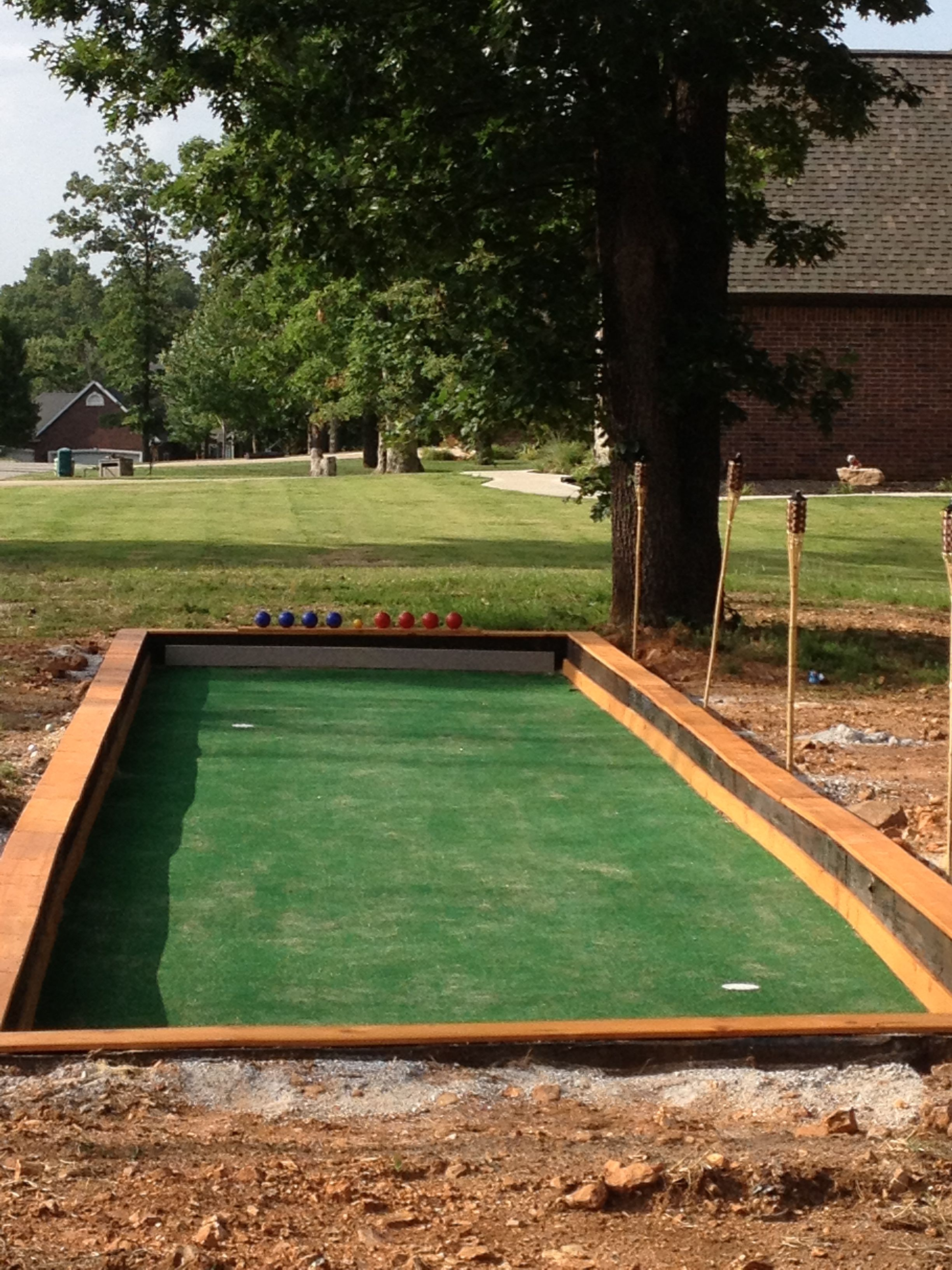 bocce court putting green for the home pinterest bocce court