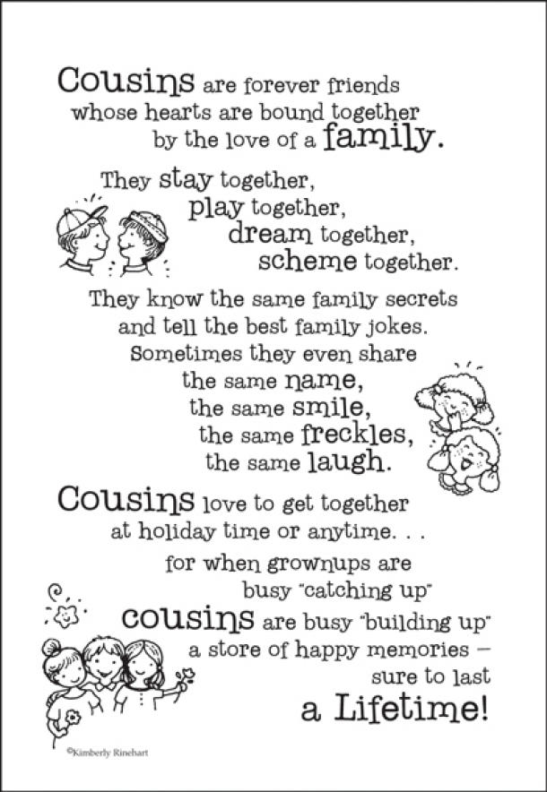cousins scrapbook stickersverse115 friendship funny