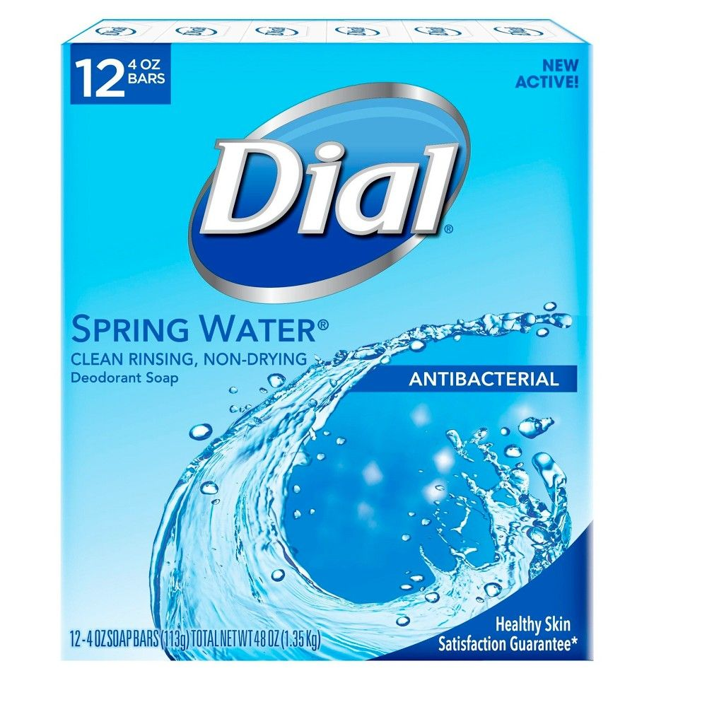 Dial antibacterial deodorant spring water bar soap 4oz