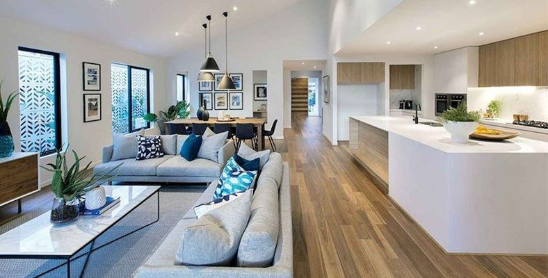 The Advantages Of An Integrated Living Kitchen Space Open Plan Living Room Open Concept Living Room Open Plan Kitchen Living Room