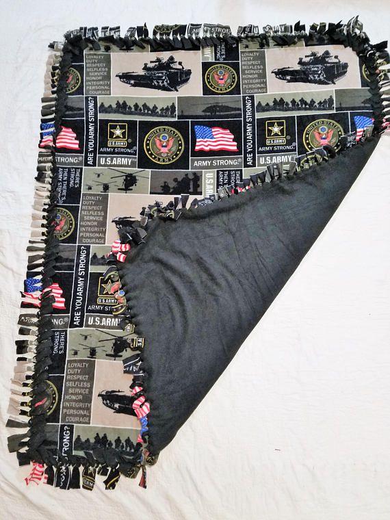 Army Blanket Military Decor Basic Training Gift Throw