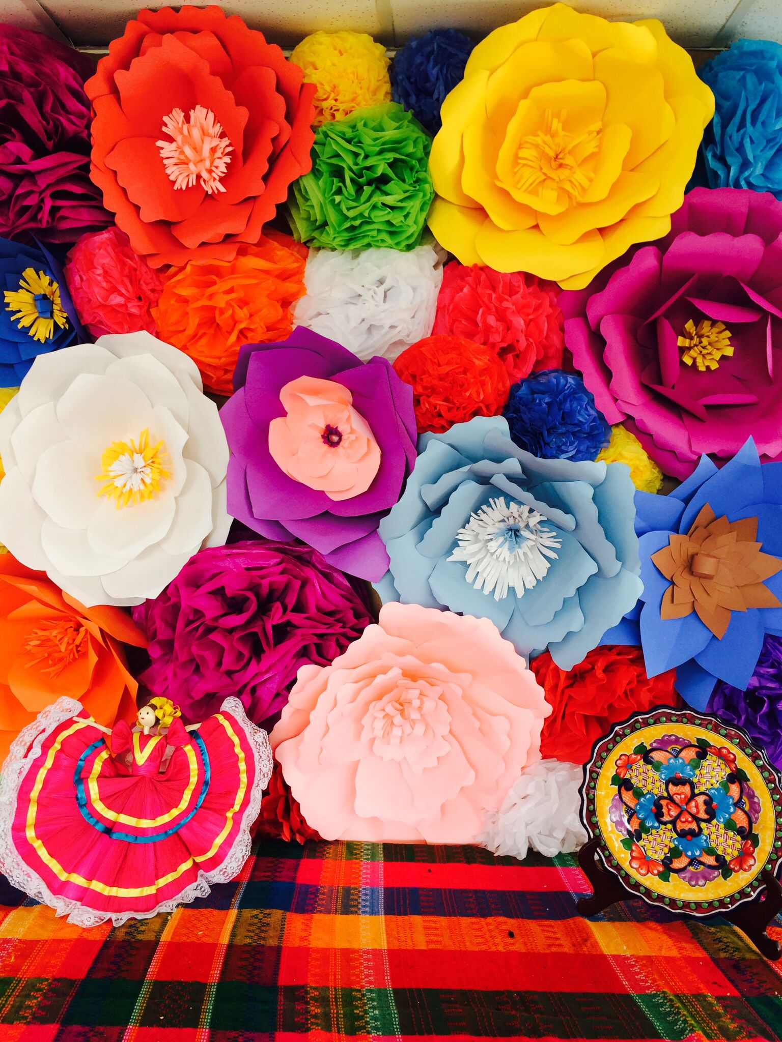 Mexican Giant Paper Flowers Backdrop Giant Paper Flowers Paper