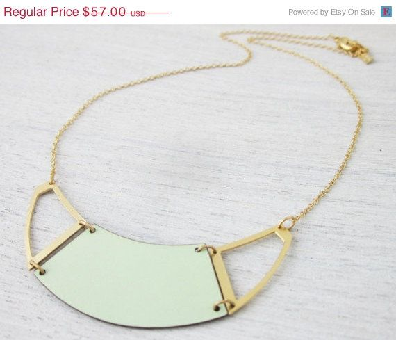 Summer Sale 15% Off Formica Divided Half Moon (Hollow) Necklace
