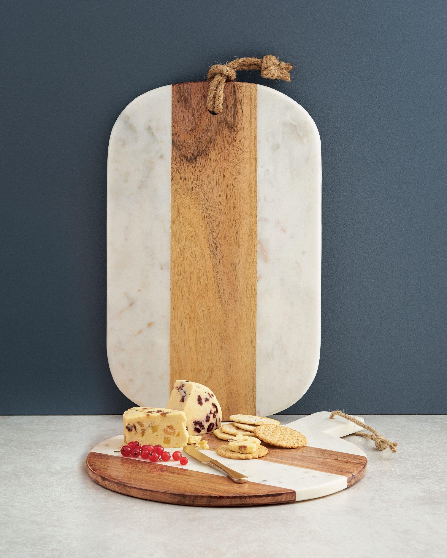 Aldi Homeware Marble And Wood Chopping Board