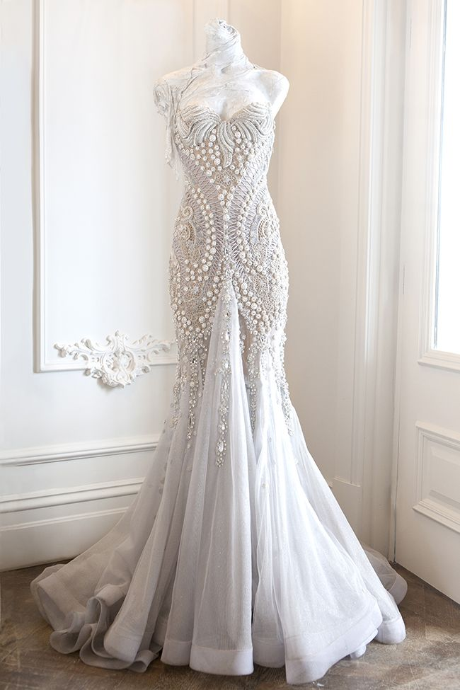 Beautiful And Elegant Wedding Gown It Is Rich In Detailes And