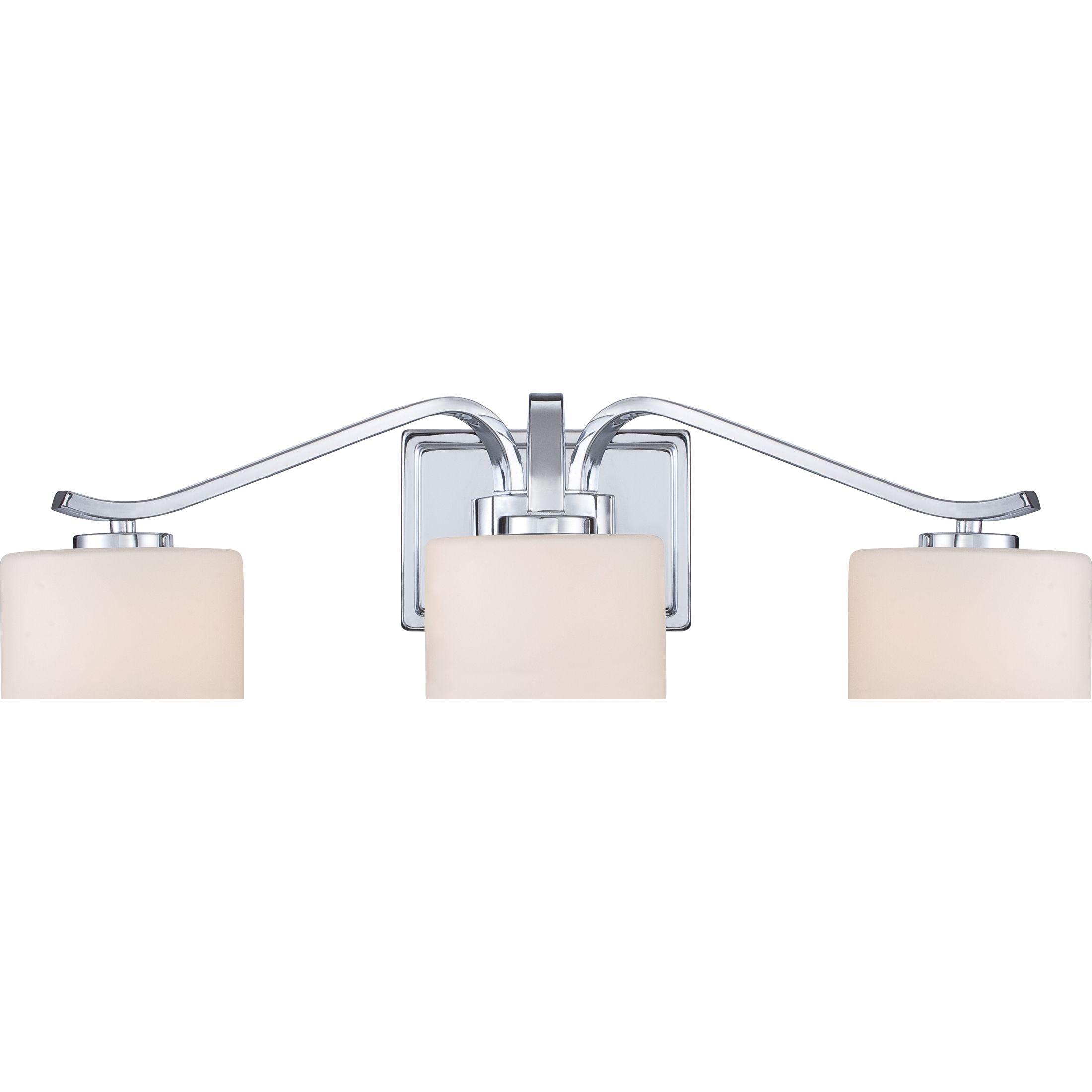 Quoizel Dvn8603c Bath Fixture 3 Lgt Plsh Chrm Bathroom Lighting